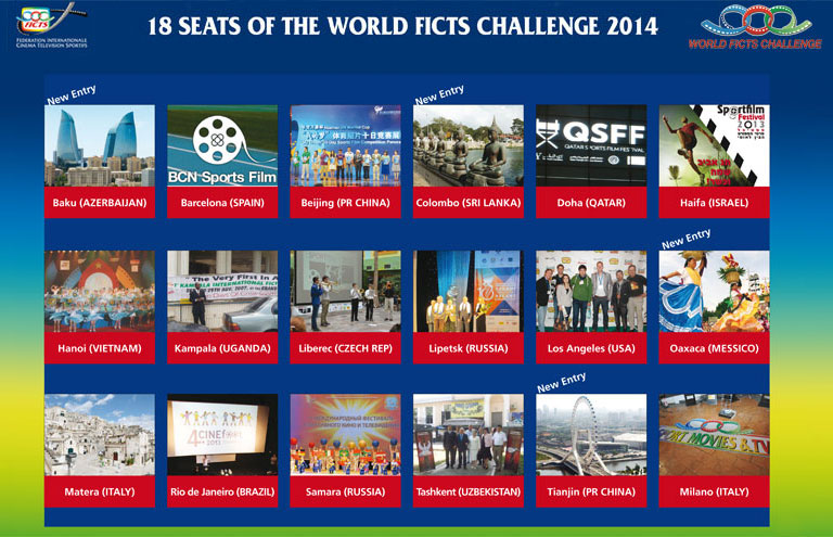 """SPORT MOVIES & TV 2014"""" WITH 18 FICTS FESTIVAL IN 5 CONTINENTS - Ficts"""